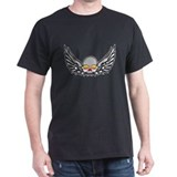 Winged Skull Black T-Shirt