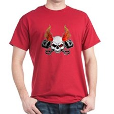 Skull and Pistons Black T-Shirt
