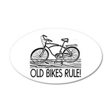 Old Bikes 20x12 Oval Wall Peel