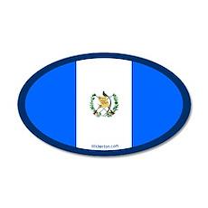 Guatemalan Flag 20x12 Oval Wall Peel