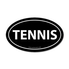 Tennis Auto Decal -Black (Oval)