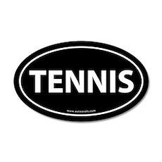 Tennis Auto Decal -Black (Oval)