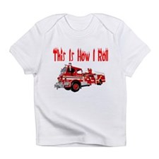 How I Roll- Fire Truck Infant T-Shirt
