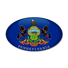 Pennsylvania 20x12 Oval Wall Peel