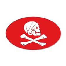 Henry Avery Jolly Roger 35x21 Oval Wall Peel