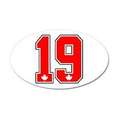 CA(CAN) Canada Hockey 19 20x12 Oval Wall Peel