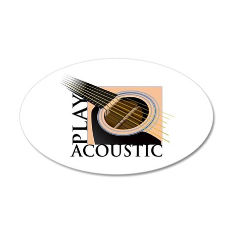 Play Acoustic 20x12 Oval Wall Peel
