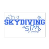 Skydiving star 20x12 Wall Peel