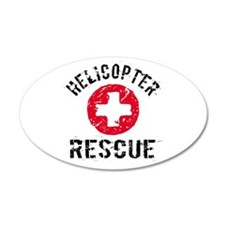 helicopter Rescue 35x21 Oval Wall Peel