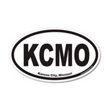 Kansas City Missouri KCMO Euro 20x12 Oval Wall Pee