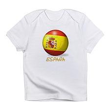 Espana Flag Soccer Ball Infant T-Shirt