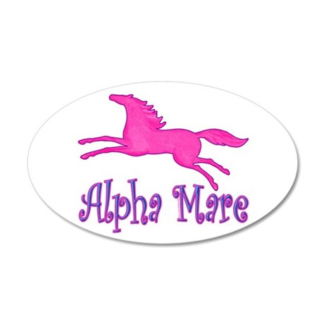 Alpha Mare. Pink Horse 35x21 Oval Wall Peel
