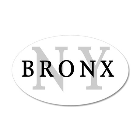 Bronx New York 35x21 Oval Wall Peel