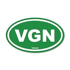 VGN Vegan Green Euro 35x21 Oval Wall Peel
