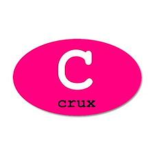 Crux 35x21 Oval Wall Peel