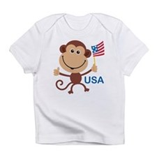 USA Monkey: Creeper Infant T-Shirt