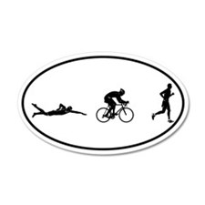 Men's Triathlon Icons 35x21 Oval Wall Peel