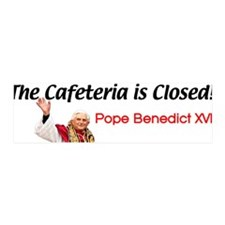 'Cafeteria Is Closed' 36x11 Wall Peel