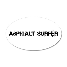 Asphalt Surfer 20x12 Oval Wall Peel