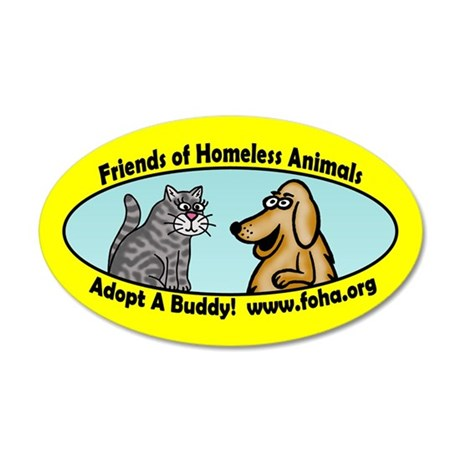 Friends of Homeless Animals 20x12 Oval Wall Peel