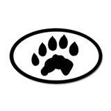 Otter Track Pawprint Euro Sticker
