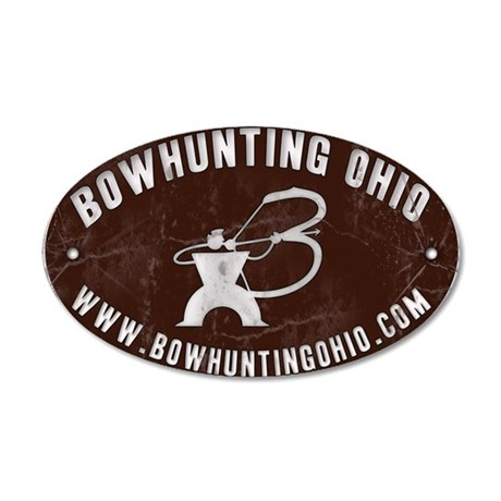 Bowhunting Ohio 35x21 Oval Wall Peel