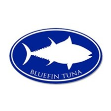 Bluefin Tuna 20x12 Oval Wall Peel