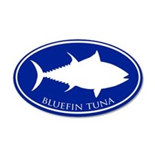 Bluefin Tuna 35x21 Oval Wall Peel