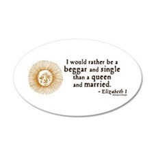 Elizabeth Marriage Quote 35x21 Oval Wall Peel