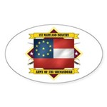 1st Maryland Infantry Sticker (Oval)