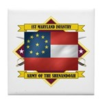 1st Maryland Infantry Tile Coaster