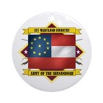 1st Maryland Infantry Ornament (Round)