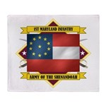 1st Maryland Infantry Throw Blanket