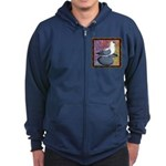 Swallow Pigeon Framed Zip Hoodie (dark)