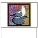 Swallow Pigeon Framed Yard Sign