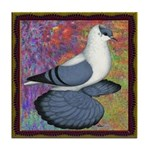 Swallow Pigeon Framed Tile Coaster