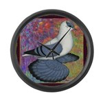 Swallow Pigeon Framed Large Wall Clock
