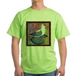 Swallow Pigeon Framed Green T-Shirt