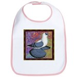 Swallow Pigeon Framed Bib