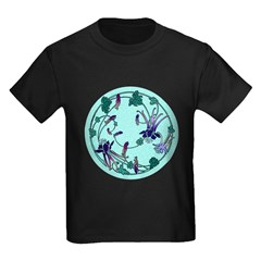 Floral Circle Kids Dark T-Shirt