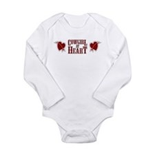 Cowgirl at Heart Long Sleeve Infant Bodysuit