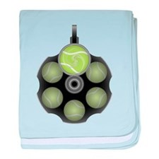 Tennis Bullets baby blanket
