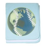 Baseball World baby blanket