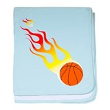 Basketball On Fire! baby blanket