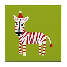xmas zebra Tile Coaster