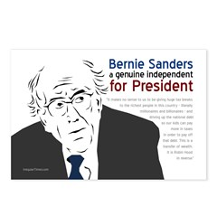 Bernard Sanders for President Postcards