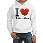 I Love Antarctica Hooded Sweatshirt