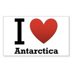 I Love Antarctica Sticker (Rectangle 50 pk)