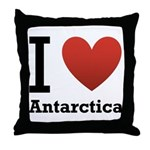 I Love Antarctica Throw Pillow