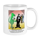 Godzilla Meets Frankenstein at an Elderhostel Mug